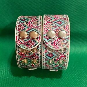 Lilly Pulitzer  Snap Bracelets- Peacock